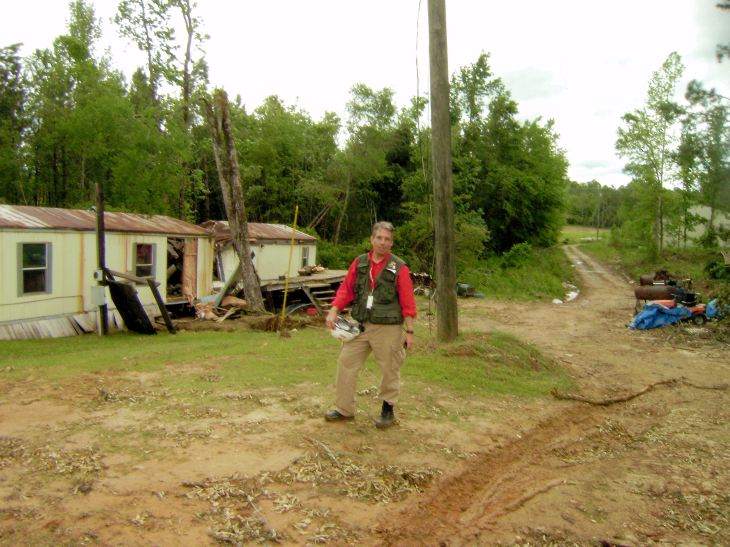 Doing Disaster Assessment with ARC following April 2011 tornado outbreak.