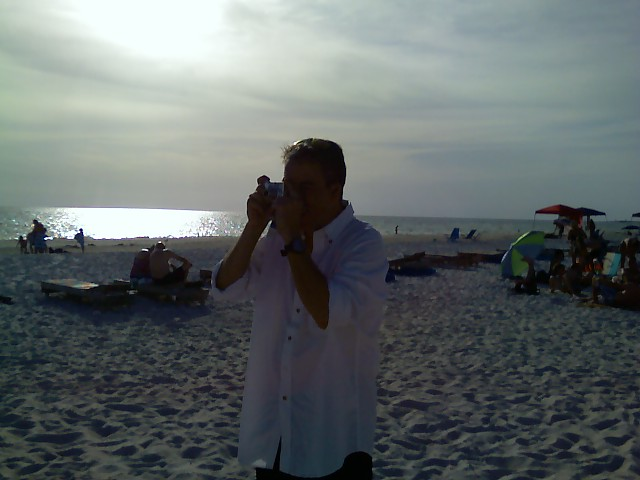 Here is me hard at work doing damage assessment on a St Pete Fl. beach.....following outprocessing on TS Debby I spent a couple of days with friends who live there.