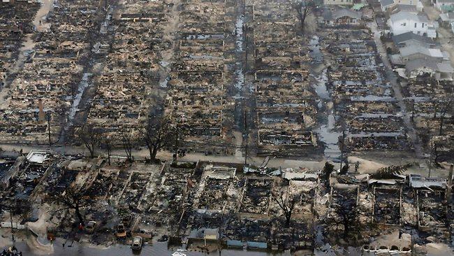 Damage from Superstorm Sandy (www.news.com.au)