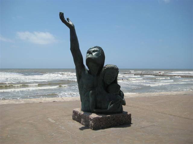 Monument on Galveston beach remembering the 1900 Hurricane, which is still remains the single deadliest natural disaster (excluding the 1918-20 pandemic) in US history.